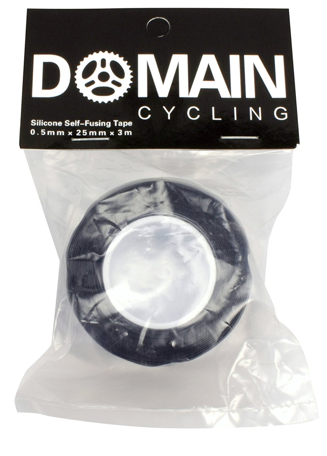 Domain Cycling White Silicone Self Fusing Bicycle Handlebar Self Bonding Repair Tape 10 ft Roll