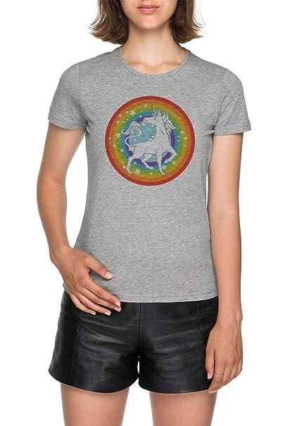 los Sparkliest, Más Fabuloso Unicornio de Ellos Todas - Unicornio Mujer Gris Camiseta Women Grey T-Shirt tee: Amazon.es: Ropa y accesorios