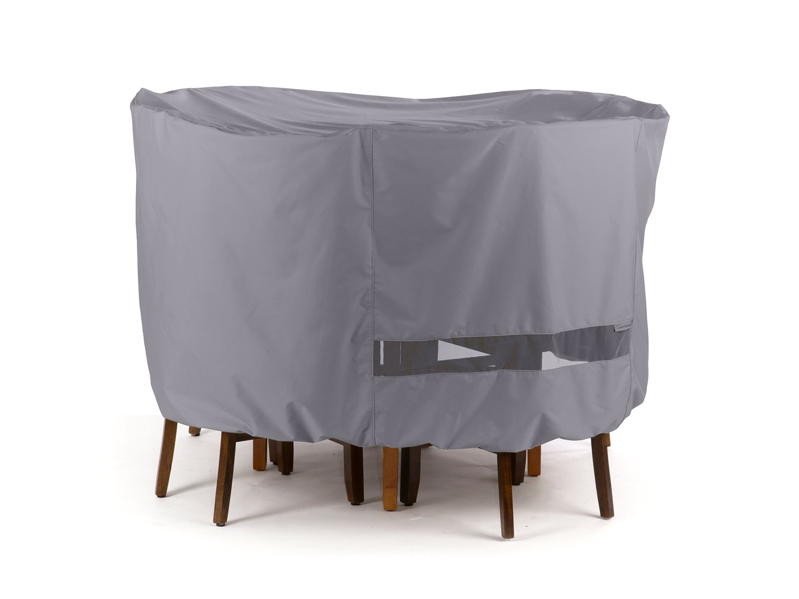 Round Bar Table/Chair Set Cover Elite Charcoal by CoverMates