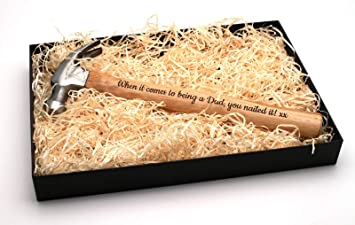 Personalized Engraved Hammer Father/'s Valentine/'s Birthday Gift Custom Present