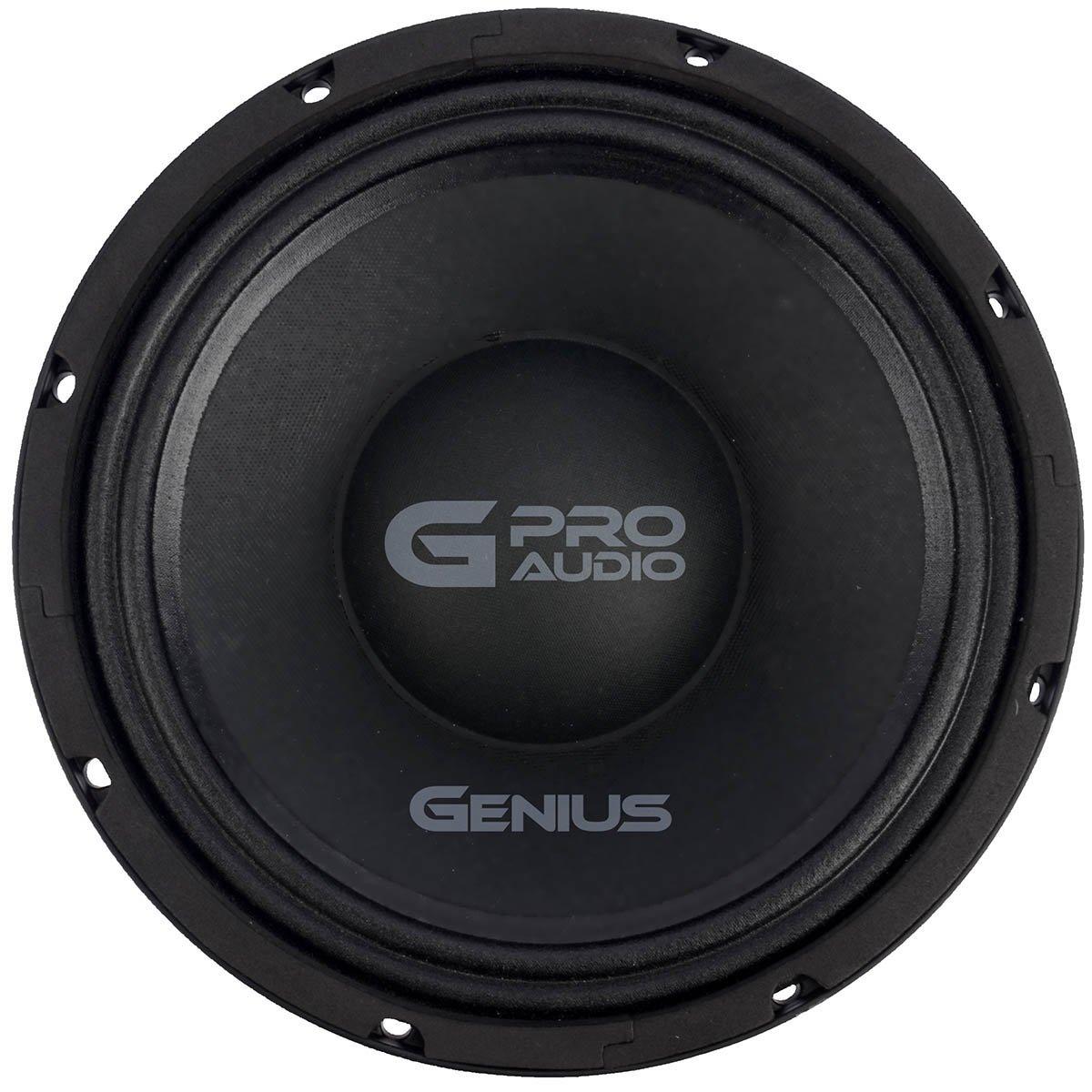 Genius GPRO-M0910 10'' 700 Watts-Max Professional Midbass Car Audio Speaker 4-Ohms Aluminum Basket
