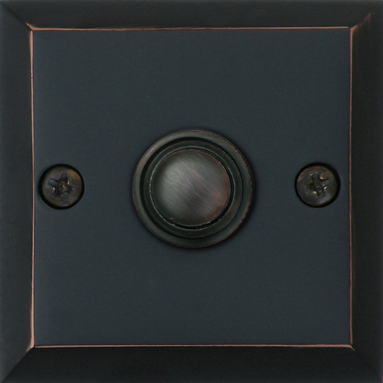 Knoxx Hardware BP3BBXORB Oil Rubbed Bronze 2.5'' Metro Square Door Bell Button, 1-Pack