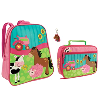 Stephen Joseph Girl Farm Animals Backpack and Lunch Box with Zipper Pull hot sale