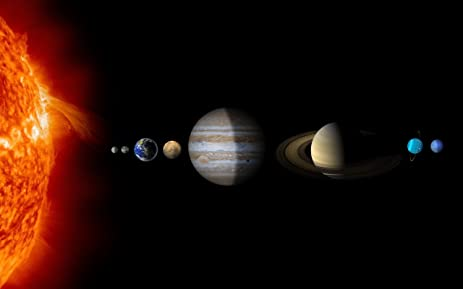 amazon com solar system stars planets colors scale 20x30 inch