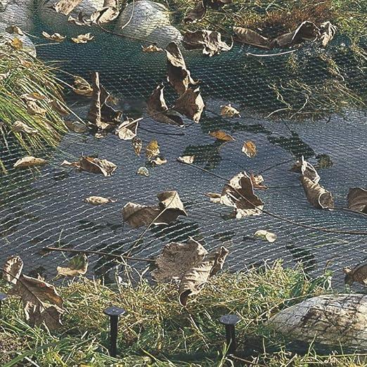 Danolt Redes para estanques 13 x 20 FT de Nylon Anti-Bird Mesh Estanque de Malla con 14 estacas de fijación-Estanque de Agua jardín de la protección de los Peces: Amazon.es: Jardín