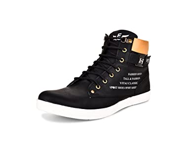 ESSENCE Men s Black Smart Casual Shoes  Buy Online at Low Prices in ... 75dd2e086