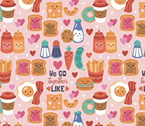 BFF Gift Wrap Valentines Day Present Wrapping Paper - 30 x 20 Inch (3 Sheets)