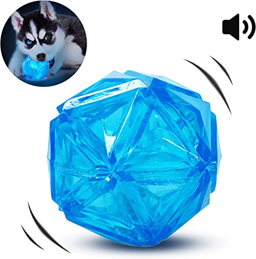 PEDOMUS Pelota para Perro, Pelota elástica con Flash LED, activada ...