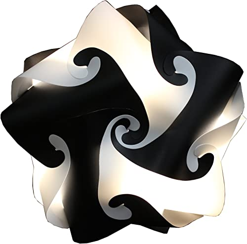 Puzzle IQ Light Handmade 2 Color 15 pcs Star Ceiling Lamp Cord Bulb Included Size M Black