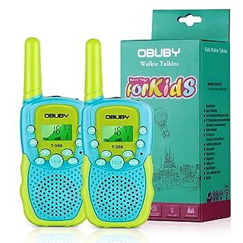 Amazon.com: Walkie Talkies para niños, 22 canales, radio de ...