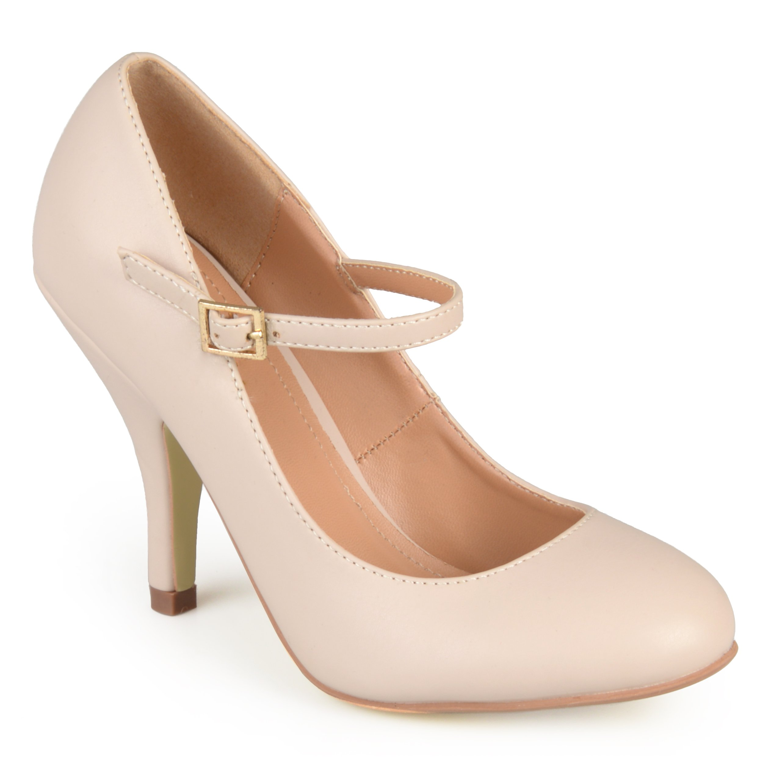 Journee Collection Womens Mary Jane Matte Finish Pumps Nude, 6 Regular US