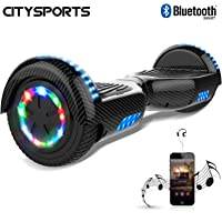 CITYSPORTS Hoverboard 6.5 Inch, Self Balancing Scooter with LED Wheel and Built-in Bluetooth, 2 * 350W Motor