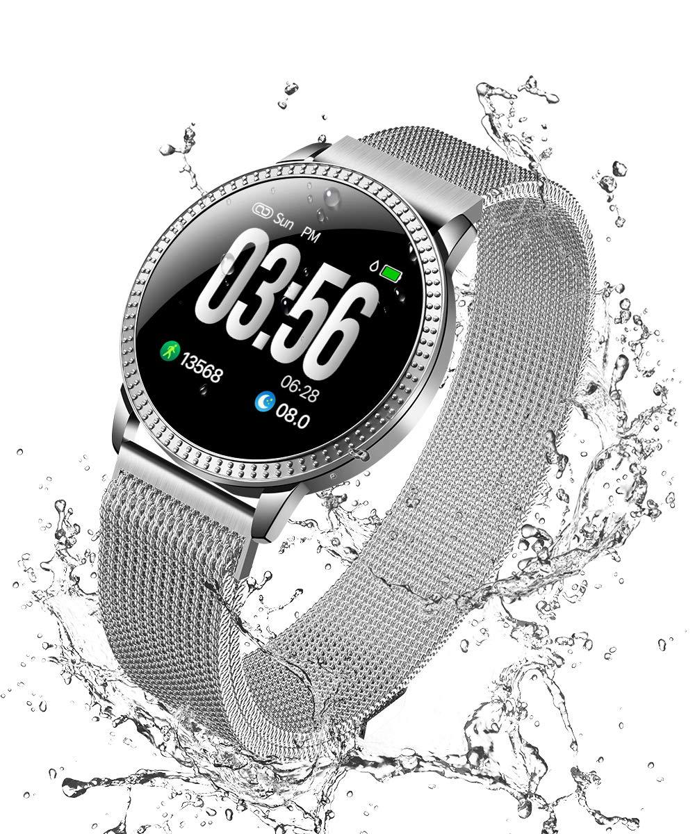 5297671808 スマートウォッチ 多機能 2019 最新 スマートブレスレット スマートリスト 血圧計 活動量計 心拍