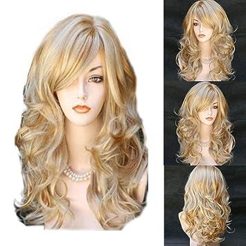 Blond Perruques Pour Femmes Résistant à La Chaleur Naturelle Pour Femme Blonde Perruques Cheveux Longs Pour Coiffure De Beauté