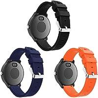 SUPORE Garmin Vivoactive 3 Armband, verstelbare zachte siliconen reservearmband voor Garmin Vivoactive 3/Samsung…