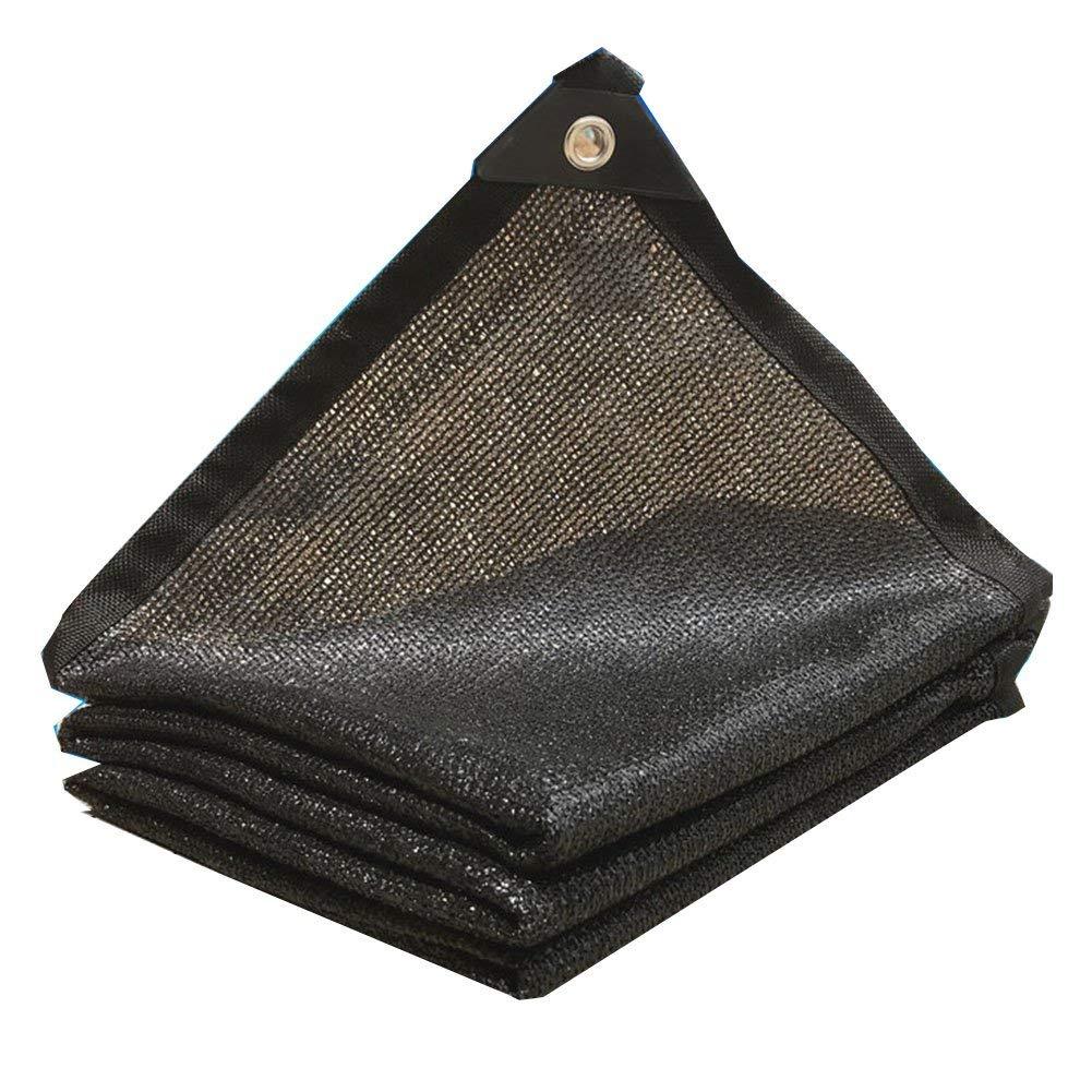 QINCH Regenfestes, wasserdichtes Schattennetz, Sun-Isolierung 8-Pin-Netzwerkverschlüsselung Blaumenhof Terrasse Dach Schatten Schatten Netzwerk (Farbe   schwarz, Größe   4x6M)