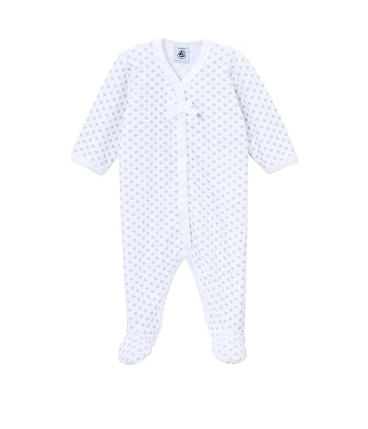 Petit Bateau - Pijama con cuello barco para niña, talla Naissance - talla francesa, color espuma (ecume)/souriceau: Amazon.es: Ropa y accesorios