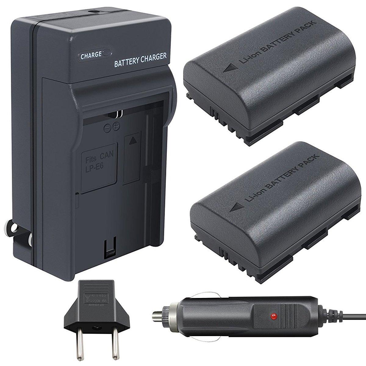 Vanon 2 unidades 7,2 V 2600 mAh LP-E6 batería de repuesto con un ...