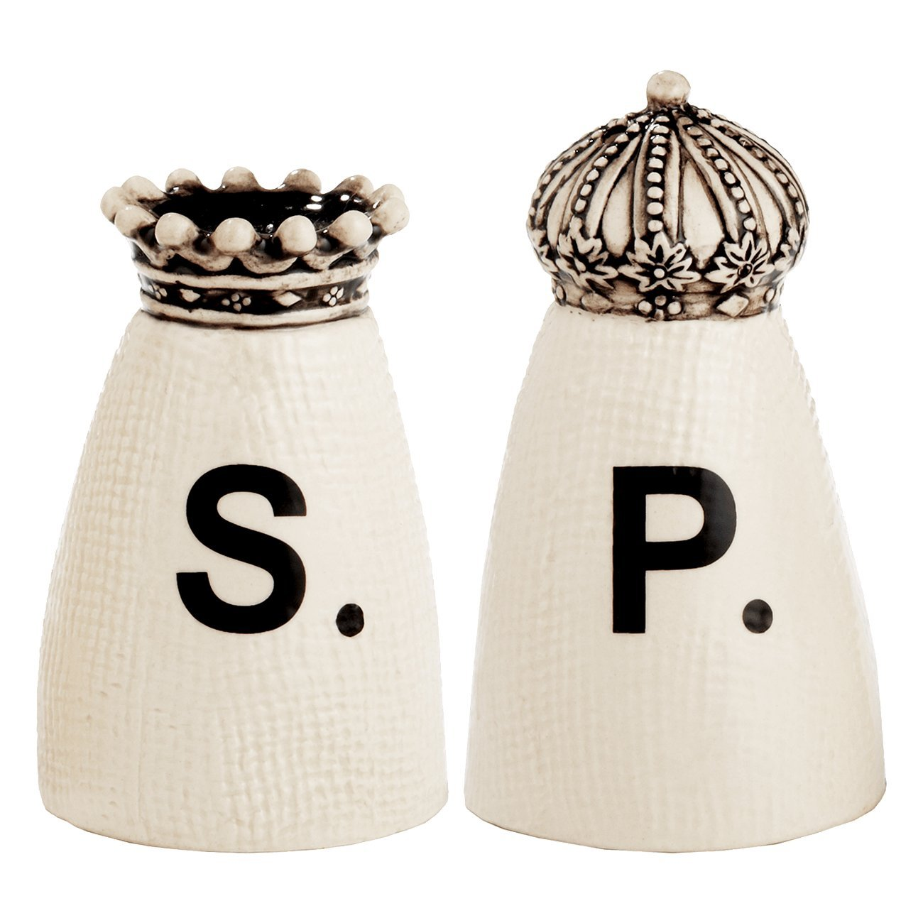 RAE DUNN Crown Salt + Pepper Shakers by Rae Dunn