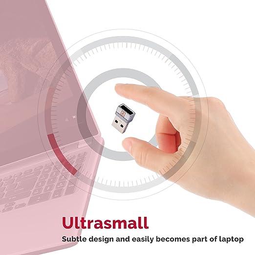 AuthenTrend - Lector de huellas dactilares con USB, Windows 10, escáner biométrico de huellas dactilares para una comodidad sin contraseñas, ...
