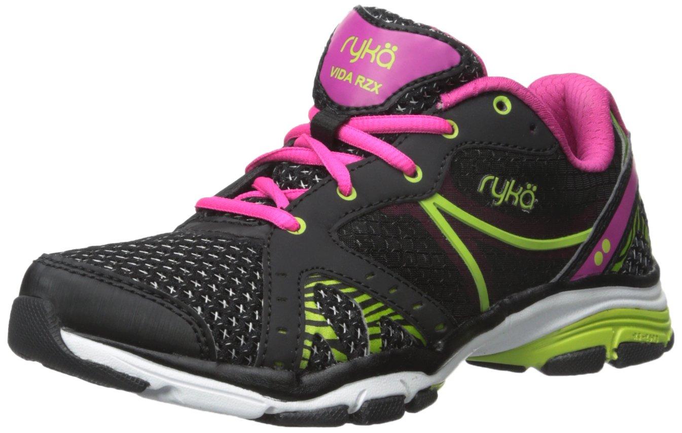 Ryka Women's Vida RZX Cross-Training Shoe, Black Pink/Lime Blaze, 9 M US