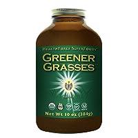 HealthForce SuperFoods Greener Grasses Alkalizer Powder - 10 oz - Vegan Greens Powder...