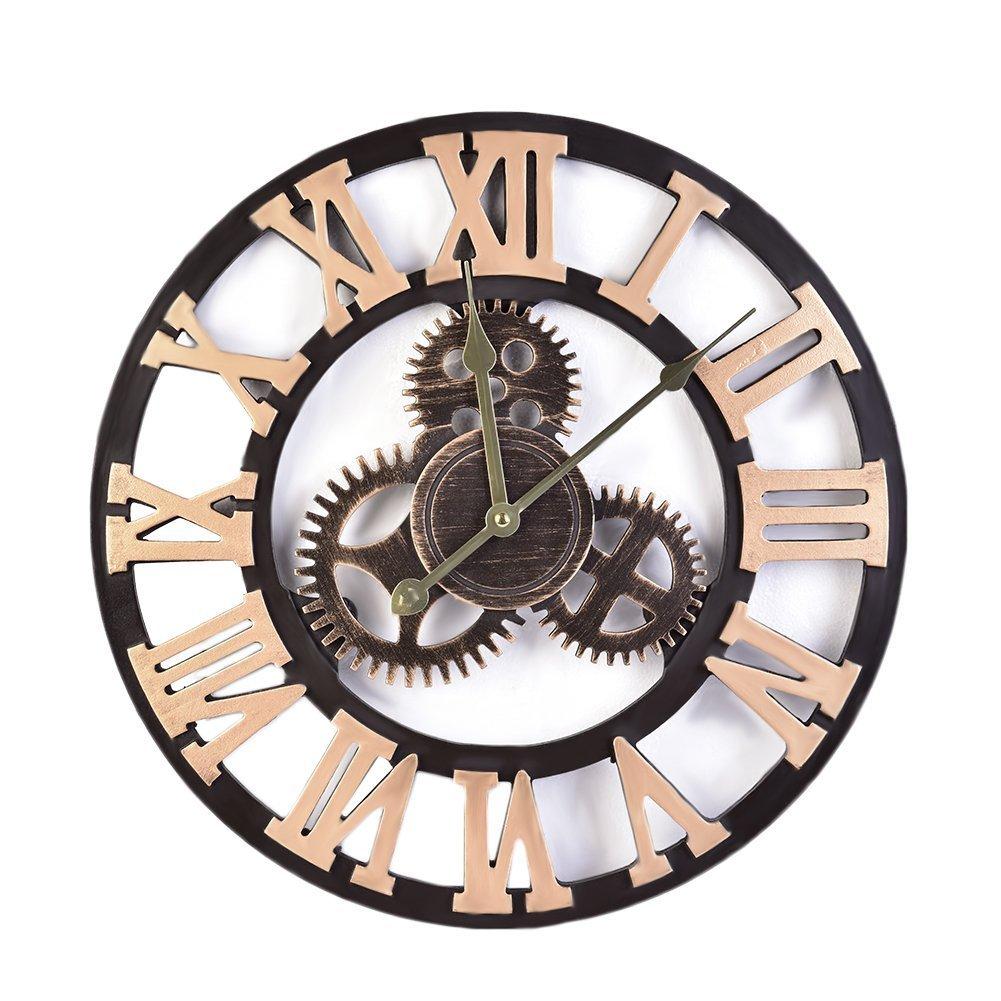 Reloj De Pared Vintage Retro Europeo Decorativo Grandes Mecanismo  ~ Relojes Grandes De Pared Vintage