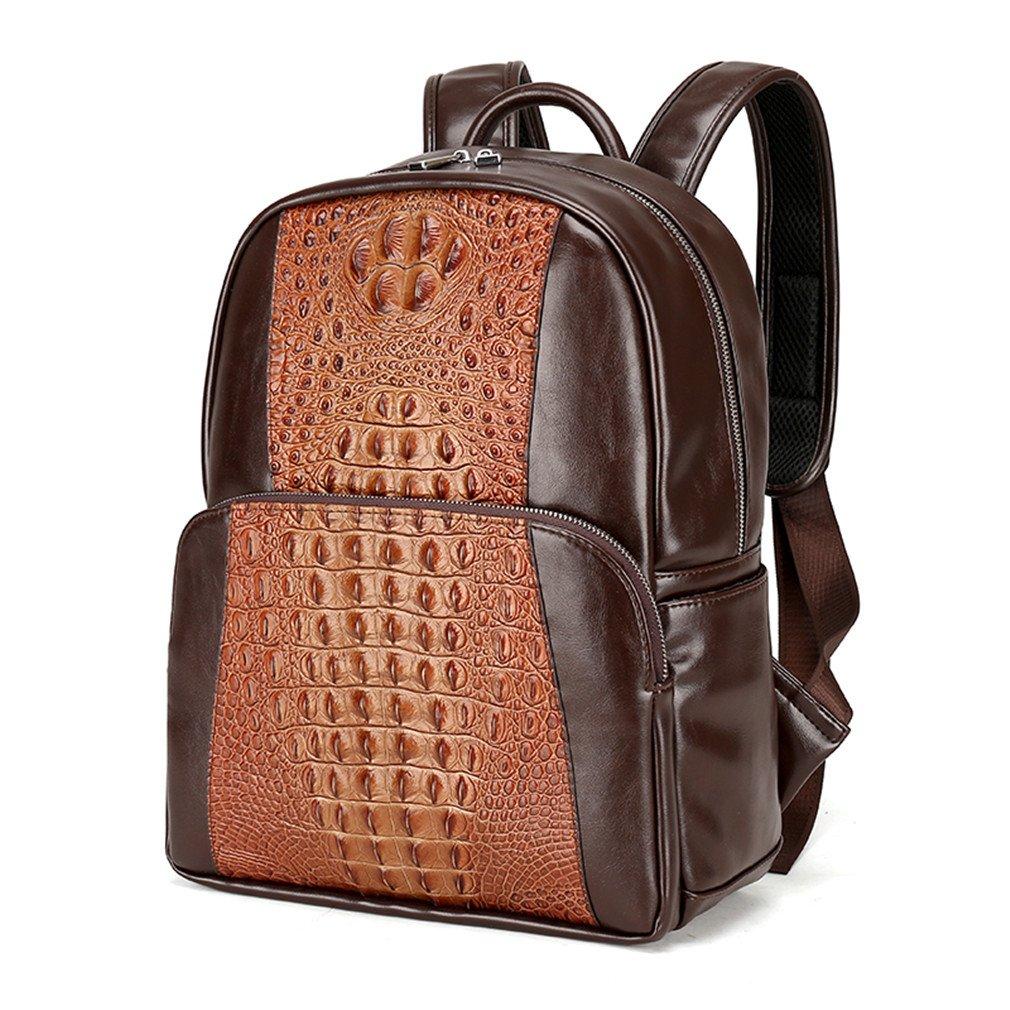 6b0e58badad0 Amazon.com: UKXMNC Men Leather Backpack Men Large Capacity Rucksack ...