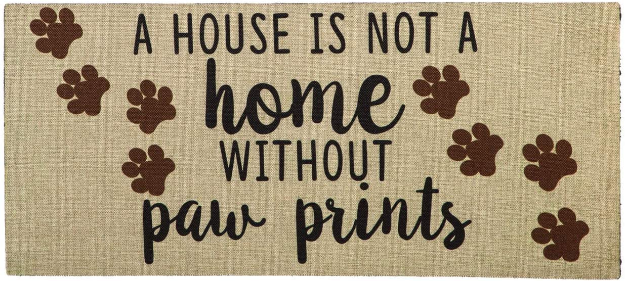 Evergreen Flag A House is Not a Home Without Paw Prints Burlap Sassafras Switch Mat - 22 x 1 x 10 Inches