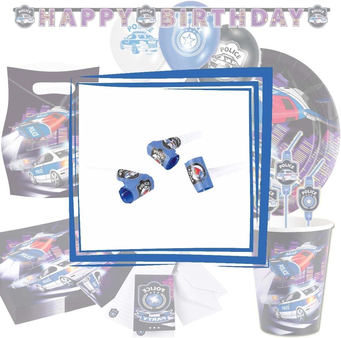 Einladungskarten Set 8 Party Einladungskarten Polizei mit Umschl/ägen Einladungen Polizeiparty Geburtstagseinladungen Jungen Polizeigeburtstag Kinderparty Karten mit Umschlag Einladungskartenset Police