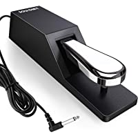 Souidmy Pedal Universal de Sostenido para Teclado y Piano con Interruptor de polaridad, Pedal Sustain, Pedal de Teclado…