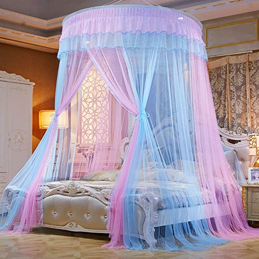 Dome Mesh Mosquito Net Bed Canopy Bedding Netting Princess Curtain Full Size Bed