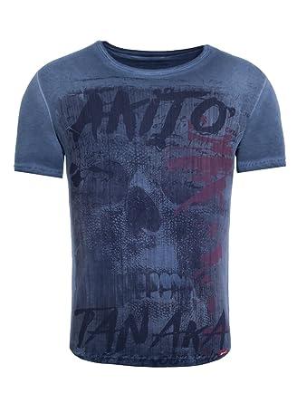 Akito Tanaka Herren T-Shirt Fight for Skull Totenkopf Asiatisch Vintage  Print  Amazon.de  Bekleidung ac26160744