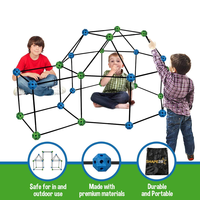 Amazon.com: Kit de construcción fuerte de 77 piezas + bolsa ...