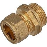 MS-Klemmringverbinder, Einschraubverschraubung mit zyl. Gewinde 22 mm x 3/4 AG