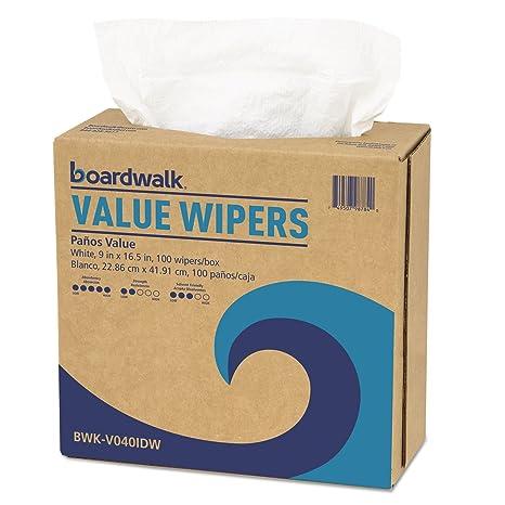 Boardwalk DRC Wipers, White, 9 x 16 1/2, 900/Carton