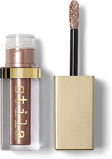 Stila Magnificent Metals - Sombra de ojos líquida con purpurina y brillo, 4,5 ml, color oro rosa