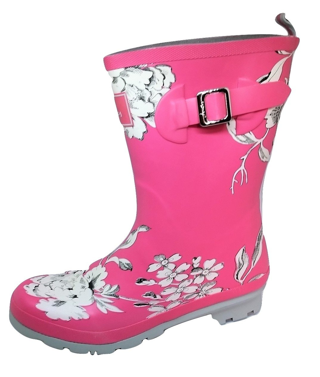 Joules Women's Molly Welly Rain Boot Pink B071FFPF4L 10 B(M) US|Triple Pink Boot Floral a18048