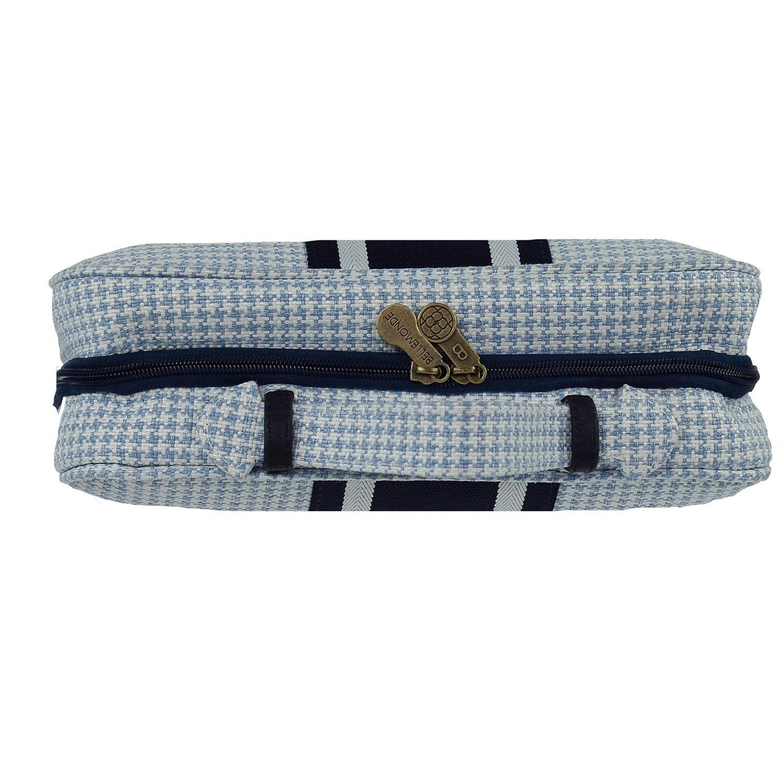 Bellemonde Hanging Toiletry Bag Travel Kit for Men and Women | Washable, Stain-resistant | Timeless Design Toiletry Organizer, Makeup Bag, Cosmetic Bag | Packs Flat 12'' x 10'' x 3.5'' | BL178PB Blue by Bellemonde (Image #4)