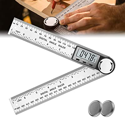US 360° LCD Electronic Digital Angle Finder Protractor Stainless Measuring Gauge