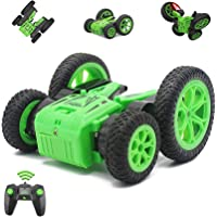 Fisca Remote Control Car RC Stunt Car for Kids, 4WD 2.4GHz Double Sided Spinning Blooming Tumbling Tricks Truck Toys for…