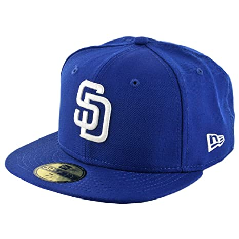 Amazon.com   New Era 59Fifty San Diego Padres Fitted Hat (Royal Blue ... 77e3fe327e2