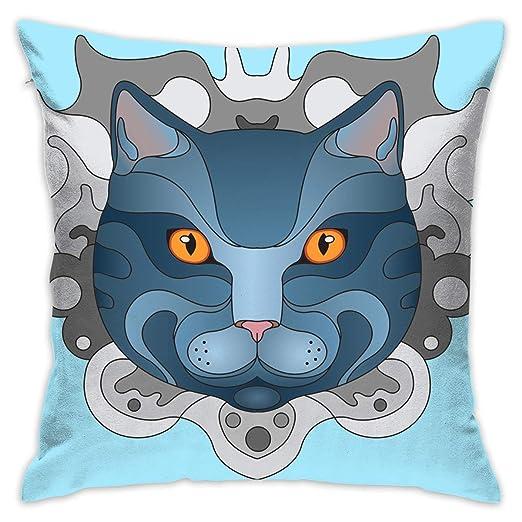 XCOZU Fundas de cojín sofá, Almohadas, diseño de Gato ...