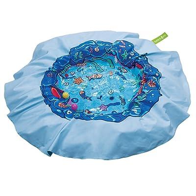 EverEarth E Lite Waterproof Beach Blanket & Kiddie Pool, Blue: Toys & Games