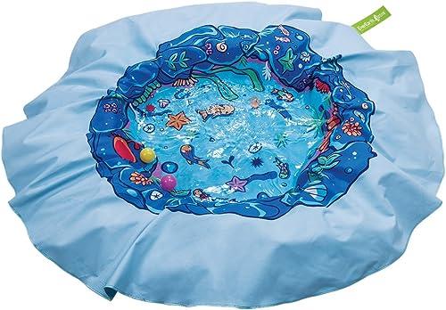 EverEarth-E-Lite-Waterproof-Beach-Blanket-&-Kiddie-Pool,-Blue