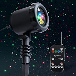 Lunmore Laser Projector Lights Christmas Garden Lights for Home Garden