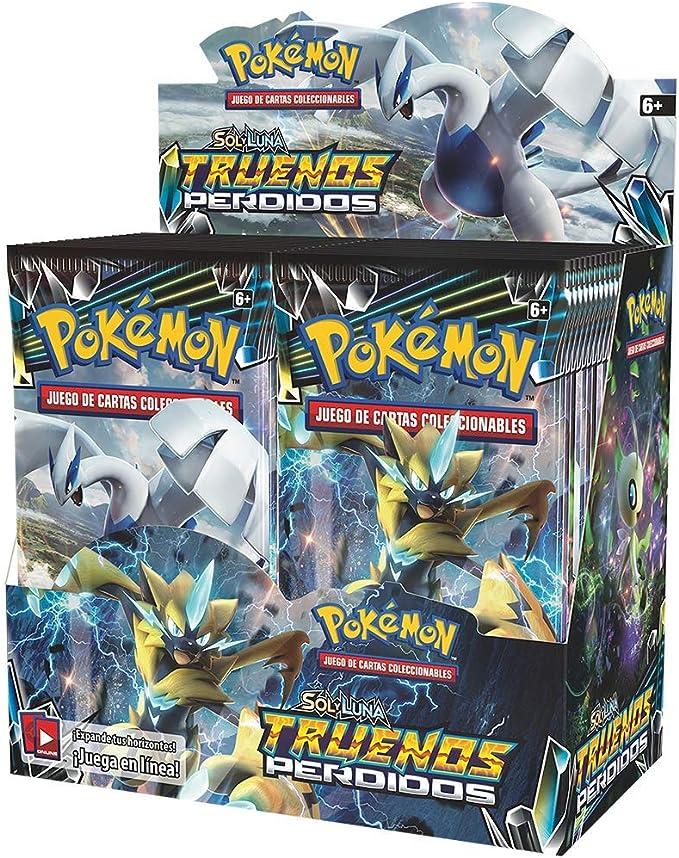 Pokemon JCC - Caja de 36 sobres Sol y Luna: Truenos Perdidos: Amazon.es: Juguetes y juegos