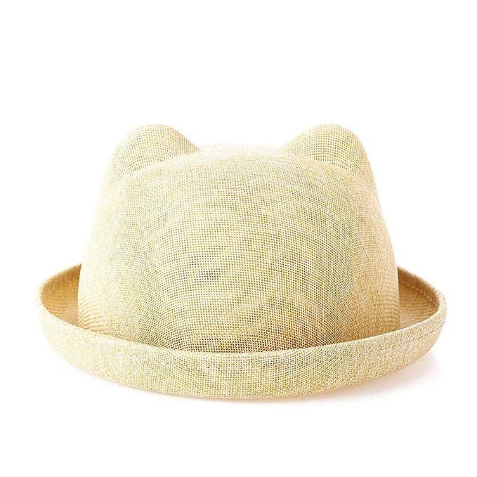 8a922de435ec3 Adelina Sombreros 2Pcs Verano para Mujer Niños Sombrero Sombrero Regalos  Paja Paja Al A  Amazon.es  Ropa y accesorios