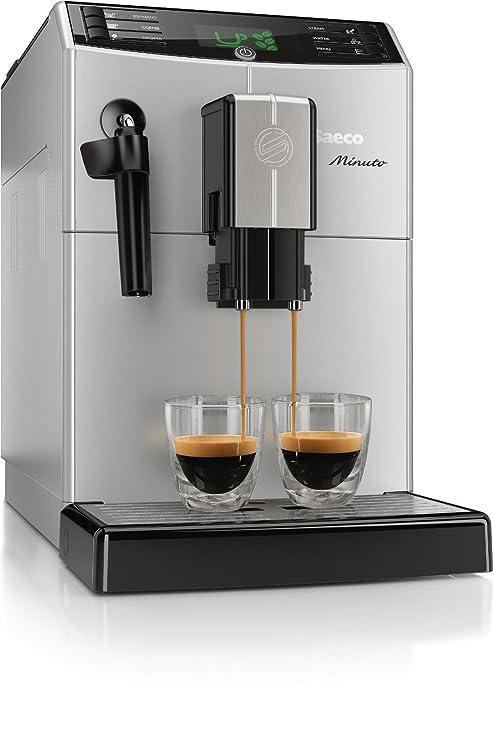 Philips Saeco Minuto clase automática máquina de café Espresso y cafetera eléctrica, color plateado