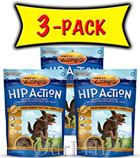 product image for Zuke's Hip Action with Glucosamine and Chondroitin 3 Packs Peanut Butter (3 lb)